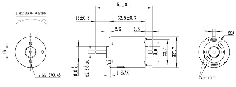small-dc-motor-NFP-365SH-360SH