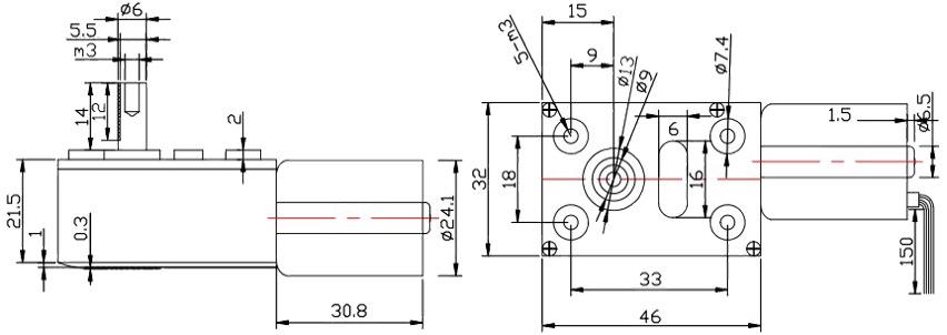 12v,24v miniature gear motor