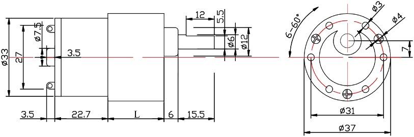 dc gearmotor